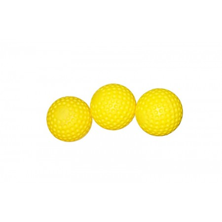 Yellow Dimpled Balls (3) Carnival Game Accessory